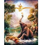 Gajendra the Elephant fights with a Crocodile