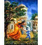 Mother Yasoda Chases Baby Krishna