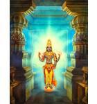 Lord Vishnu In a Doorway