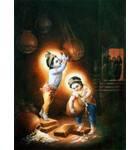 Krishna and Balarama Stealing Butter Painting