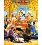Krishna as baby, bathing