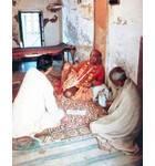Srila Prabhupada at Radha Damodara Vrindaban, In room
