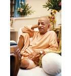 Srila Prabhupada in Vrindaban, Relaxed Pose