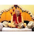 Srila Prabhupada in New York, On Vyasasana with Gong