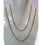 Gold Plated Silver Tulsi Necklace - Medium Beads
