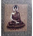 Lord Buddha Backdrop Cotton Print (220x210 cm)
