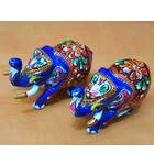 Metal Elephants (Set of 2)