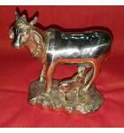 "Plain Brass Cow with Calf (3.5 x 4.5"")"