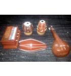"Harmonium, Mrdanga, Tabla and Sitar Polyresin Models 3"" (set of 5)"