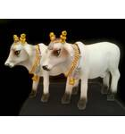 """Standing Cows White 3"""" size (Set of 2)"""