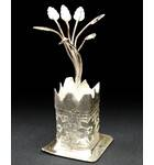 Altar Decoration, White Metal -- Tulsi Maharani