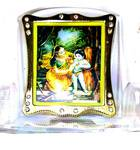 Clear Picture Stand -- Sri Damodara (Sticky Bottom for Car and more)