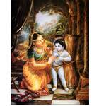 Mother Yasoda and Damodar (Greeting Card pack of 10)