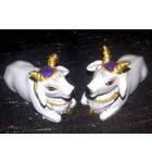 "Cute Krishna's Cows White 2.5"" size (Set of 2)"