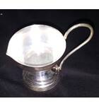 White Metal Single Ghee Lamp