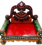 "Wooden Singhasan / Vyasasana with Decoration 6x5"""